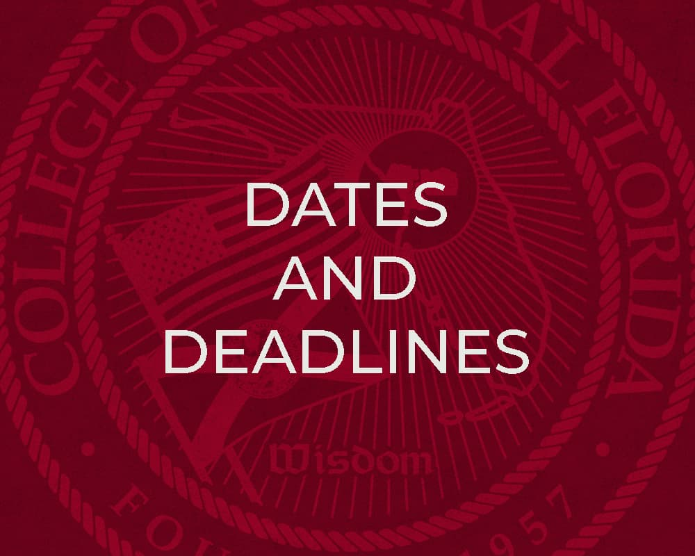 CF Dates and Deadlines