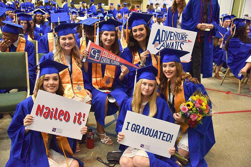 Graduates smiling