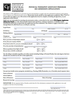 PTA Application