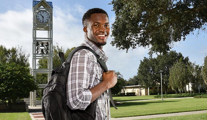CF student on campus